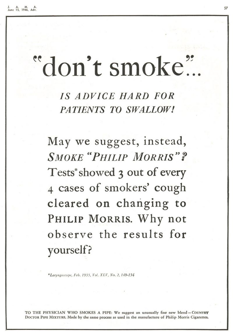 JAMA 1946 Dontsmoke hard to swallow
