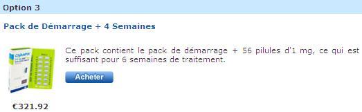 Champix en ligne Euroclinix pack