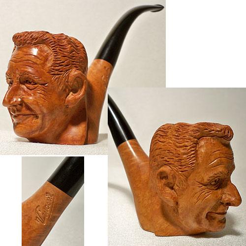 Pipe sculptée Sarkozy