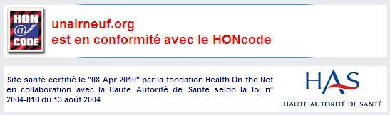 Certificat HONcode certificat Unairneuf 1271502628113