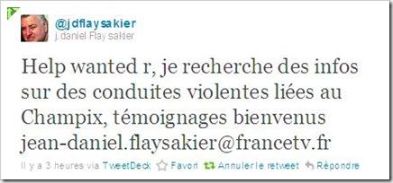 J-D. Flaysakier (@jdflaysakier) cherche des témoignages de violences sous Champix