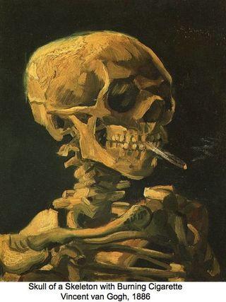Squelette fumant Vincent Van Gogh