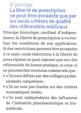 Indépendance prescription médicale CNO avril 2007