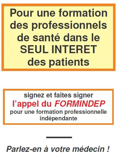Appel du Formindep pour une formation médicale indépendante