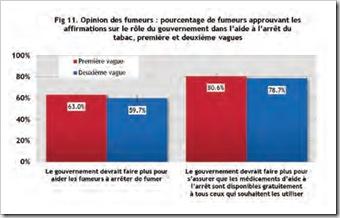 Appreciation par les fumeurs de l'action du gouvernement Rapport ITC France octobre 2011