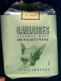 Gauloises verte denicotinisee