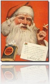 Pere Noel santa Claus smoking fumeur