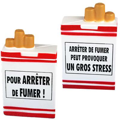 Paquet de cigarette en mousse anti-stress