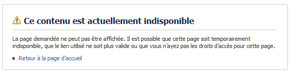 Contenu censure par Facebook