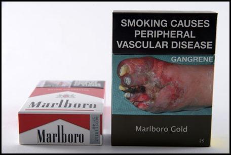 Paquet Marlboro ancien et nouvel emballage generique en Australie
