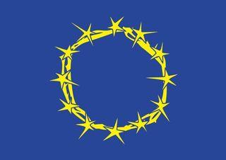 Europe drapeau couronne epines