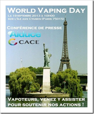 World Vaping Day 19 septembre 2013 PARIS