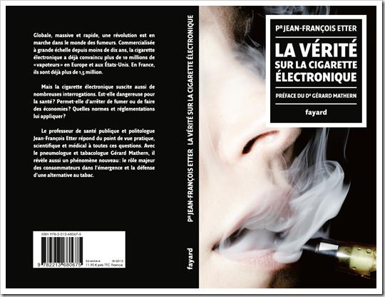 La verité sur la cigarette electronique, Etter, Fayard