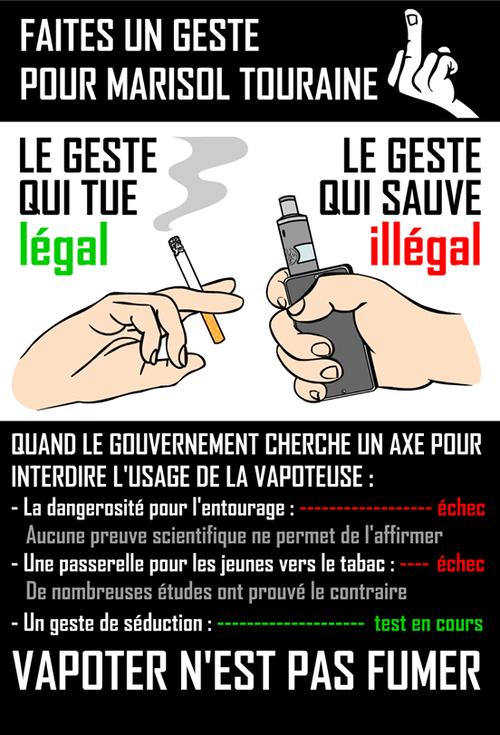 Vapoteurs en colere Faites un geste pour Marisol Touraine