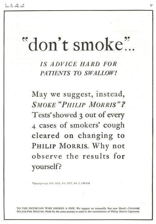 Jama_1946_dontsmoke_hard_to_swallow
