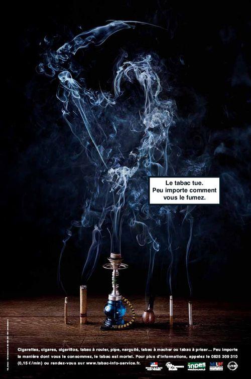 trucage fumée sur un narguilé